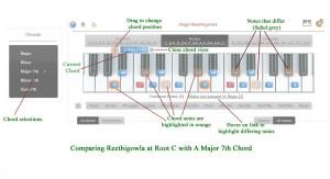 Chord comparison - Keyboard